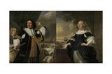 Vice Admiral Aert Van Nes and Geertruida, Den Dubbelde His Wife,1668 Giclee Print by Bartholomeus Van Der Helst