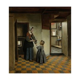 Woman with a Child in a Pantry, C. 1656-60 Giclee Print by Pieter de Hooch