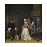 The Suitor's Visit, 1658 Giclee Print by Gerard ter Borch