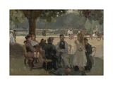 In the Bois De Boulogne Near Paris, C. 1906 Giclee Print by Isaac Israels