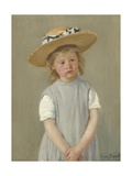 Child in a Straw Hat, 1886 Giclee Print by Mary Cassatt