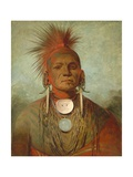 See-Non-Ty-A, an Iowya Medicine Man, 1844-45 Giclee Print by George Catlin