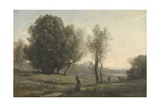 Landscape, C. 1872 Giclee Print by Camille Corot
