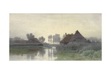 Farmers' Homes on the Water in Morning Mist, Ca. 1848-1903 Giclee Print by Paul Joseph Constantin Gabriel