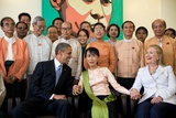 Barack Obama and Hillary Rodham Clinton with Aung San Suu Ky Photo