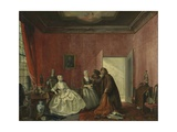 The Spendthrift or the Wasteful Woman, 1741 Giclee Print by Cornelis Troost