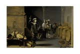 The Wine Connoisseurs, 1640-42 Giclee Print by Jacob Duck