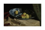 Still Life with Apples in a Delft Blue Bowl, 1880-90 Giclee Print by Willem de Zwart