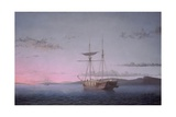 Lumber Schooners at Evening on Penobscot Bay, 1863 Giclee Print by Fitz Henry Lane