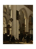 Interior of Gothic Protestant Church During Service, 1669 Giclee Print by Emanuel de Witte