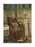 Old Woman by the Fireplace, C. 1850-7 Giclee Print by August Allebe