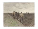 Plowing Farmer, 1848-88 Giclee Print by Johannes Bosboom