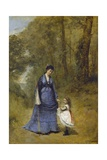 Madame Stumpf and Her Daughter, 1872 Giclee Print by Jean Baptiste Camille Corot