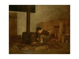 The Early Scholar, 1865 Giclee Print by Eastman Johnson