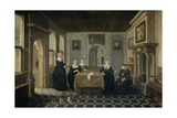 Five Ladies in an Interior, 1630-52 Giclee Print by Dirck Van Delen