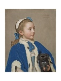 Maria Frederike Van Reede-Athlone at Seven Years of Age, 1755-56 Giclee Print by Jean-Etienne Liotard