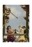 Musical Group on a Balcony, 1622 Giclee Print by Gerrit van Honthorst
