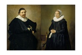 Marriage Portraits of Lucas De Clercq, 1635 Giclee Print by Frans Hals