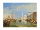 Venice: the Dogana and San Giorgio Maggiore, 1834 Giclee Print by Joseph Mallord William Turner