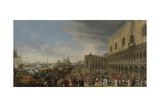 Entry of the French Ambassador in Venice, 1706, 1706-08 Giclee Print by Luca Carlevarijs