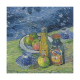 Still Life with Bottles and Fruit, 1900 Giclee Print by Alexej Jawlensky