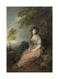 Mrs. Richard Brinsley Sheridan, 1785-87 Giclee Print by Thomas Gainsborough