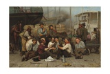 The Longshoremen's Noon, 1879 Giclee Print by John George Brown