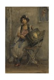 The Lady Drummer, C. 1890-1910 Giclee Print by Isaac Israels