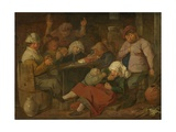 Peasant Drinking Bout, 1620-30 Giclee Print by Adriaen Brouwer