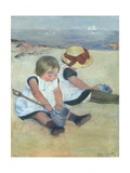 Children Playing on the Beach, 1884 Giclee Print by Mary Cassatt