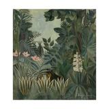 The Equatorial Jungle, 1909 Giclée-tryk af Henri Rousseau