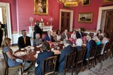 President Barack Obama and First Lady Michelle Obama Host a Lunch for the Bush Family Photo