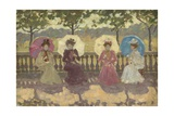 In the Park, Paris, 1891 Giclee Print by Maurice Brazil Prendergast