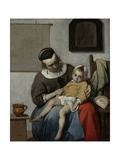 The Sick Child, 1664-66 Giclee Print by Gabriel Metsu