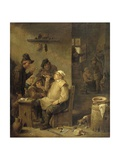 Bricklayer Smoking a Pipe, 1630-60 Giclee Print by David Teniers