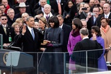 President Barack Obama During the Public Inaugural Swearing-In Ceremony, Jan. 21, 2013 Photo
