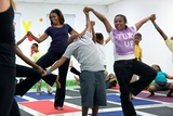 First Lady Michelle Obama Joins an after School 'Let's Move!' Yoga Class after School Activities Photo