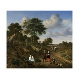 Couple in a Landscape, 1667 Giclee Print by Adriaen van de Velde