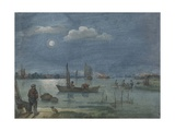 Fishermen by Moonlight, 1595-1634 Giclee Print by Hendrick Avercamp