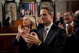 Senior Cabinet Members Applaud President Obama at the Capitol Photo