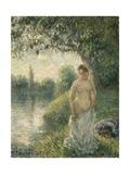 The Bather, 1895 Reproduction procédé giclée par Camille Pissarro