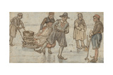 Skaters and Kolf-Players on the Ice, 1615-34 Giclee Print by Hendrick Avercamp