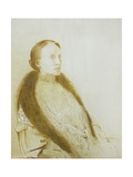 Portrait of A.M.L. Bonger-Van Der Linden, 1905 Giclee Print by Odilon Redon