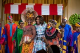 First Lady Michelle Obama Joins the Cast of Disney's the Lion King East Room of the White House Photo