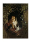 Cat with Kittens, by Henriette Ronner, C. 1844 Giclee Print by Henriette Ronner