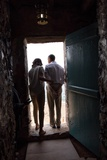 President Barack Obama and Michelle at the 'Door of No Return' Foto