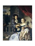 A Man and a Woman, 1678 Lámina giclée por Frans Van Mieris