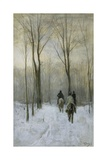 Riders in the Snow in the Haagse Bos, 1880 Giclee Print by Anton Mauve