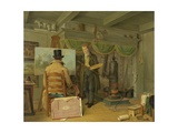 The Artist at His Studio, 1820 Giclee Print by Anthony Oberman