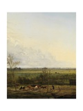 Distant View of the Meadows at 'S-Graveland, 1817 Giclee Print by Pieter Gerardus van Os